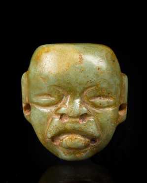 An Olmec Jade Maskette