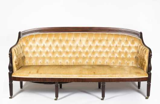 English Sheraton Mahogany Sofa