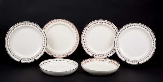 Lot of Six Wedgewood Creamware Plates