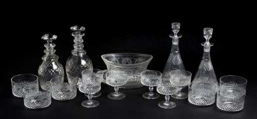 Lot of Early Cut Blown Glass with History **AVAILABLE FOR $200.00**