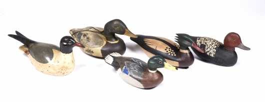 Five Contemporary Duck Decoys