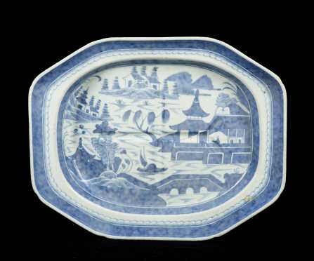 "Chinese ""Canton"" Well and Tree Platter"