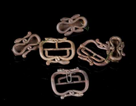 Three Pair of Ancient Middle Eastern Belt Buckles