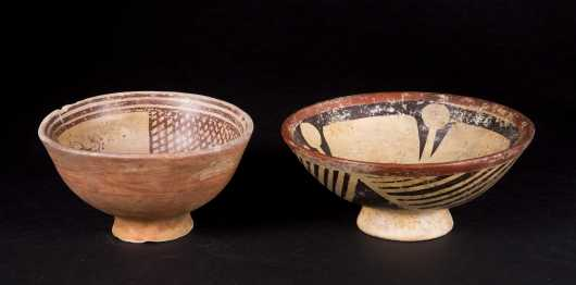 Two Early Decorated Pottery Bowls
