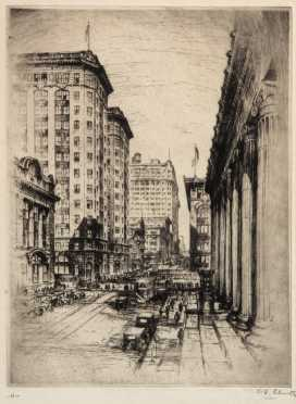 Continental City Etching