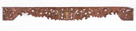 Carved Indo/Persian Wooden Valance