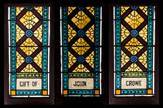 Three Stained Leaded Glass Windows