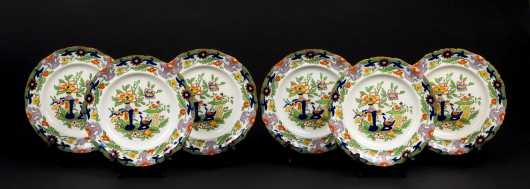Mason's Ironstone Set of Six Dessert Plates