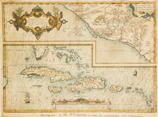 Carribbean Map, 1579