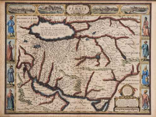Kingdom of Persia Map, John Speed, 1626