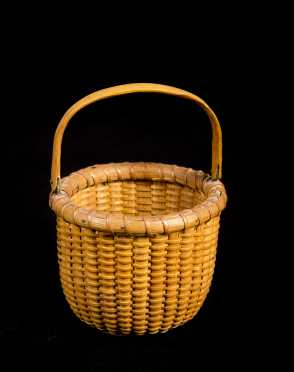 "Miniature ""Nantucket"" Handled Basket"