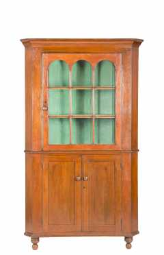 Arched Glazed Door Sheraton Corner Cupboard