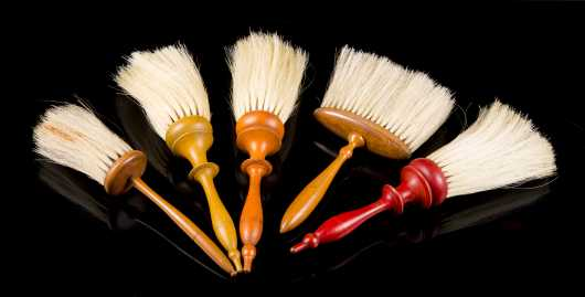 Lot of Five Canterbury, NH Shaker Brushes
