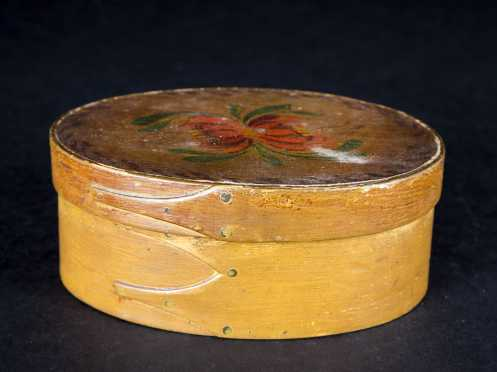 Shaker Painted Three Finger Oval Box