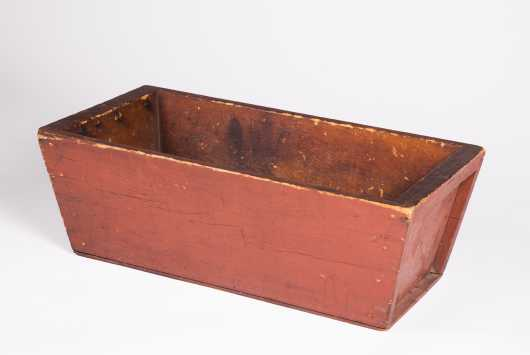 Canterbury or Enfield, NH Red Painted Shaker Dough Box