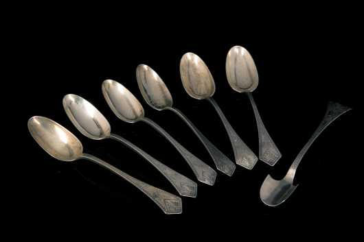 """Crosby, Morse and Foss"" Sterling Serving Set"