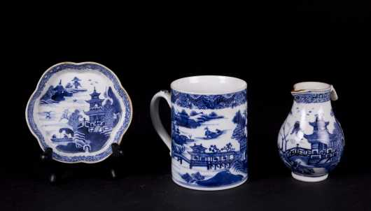 Three Chinese Blue and White Porcelain Pieces
