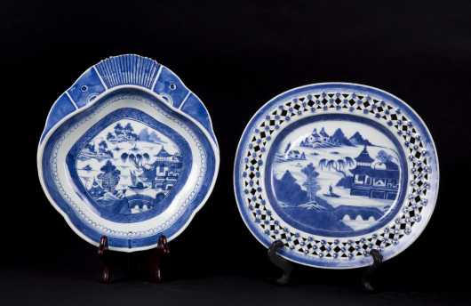 "Lot of Two Chinese ""Canton"" Dishes"