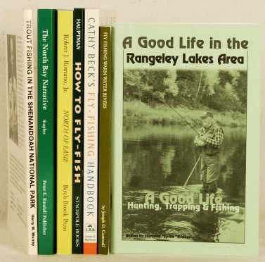 Lot Of 7 Volumes Related To Fly Fishing. All are either signed or inscribed