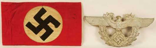 Nazi party arm band and eagle