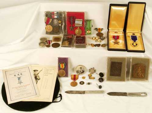 Miscellaneous Lot of U.S. - G.A.R, WWII