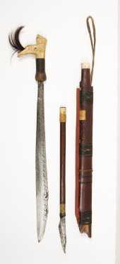 Fine Langgai Thggang Sword From Borneo