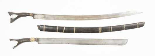 Two Northern Sumatran Sikin Pasangan Swords