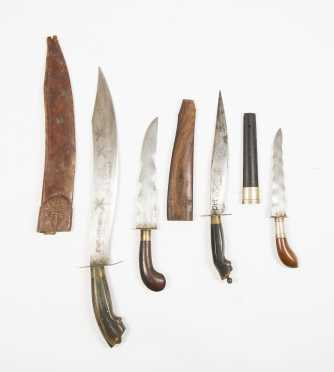 Four Indonesian/ Philippines Area Knives