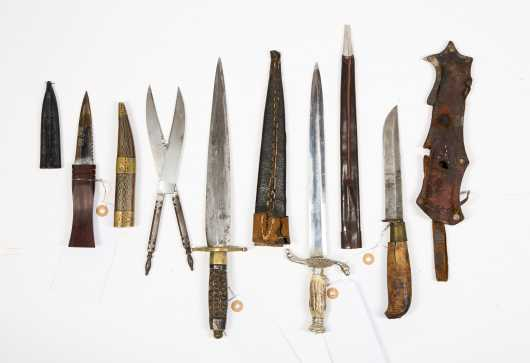 Five Miscellaneous Knives with Sheaths