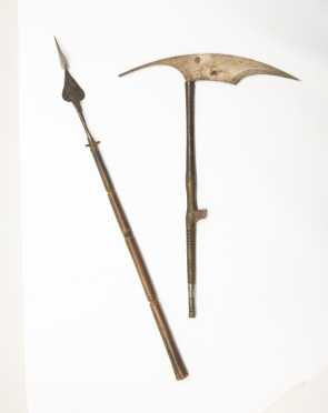 Two Afghani Weapons - A Hand Lance And A Battle Ax