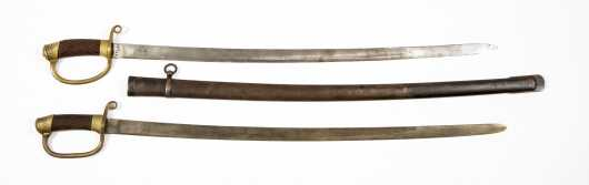 Pair Of Persian Cavalry Sabers Probably Imported From Russia