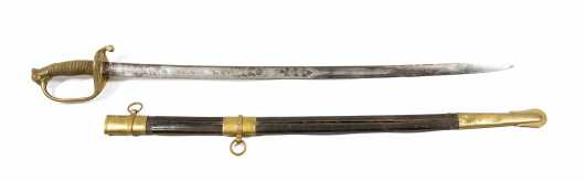 Near Excellent C. Roby, Chelmsford, Mass. Staff and Field Officer's Sword and Scabbard