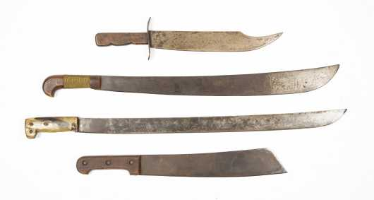 Four Large Machete Style Knives