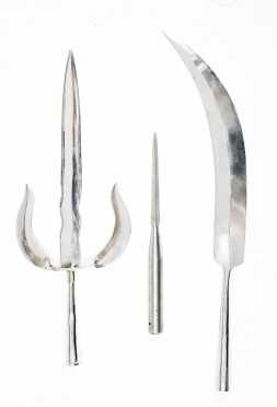 Three Reproduction Steel Weapons