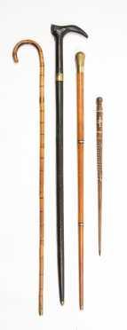 Four Modern Sword Canes