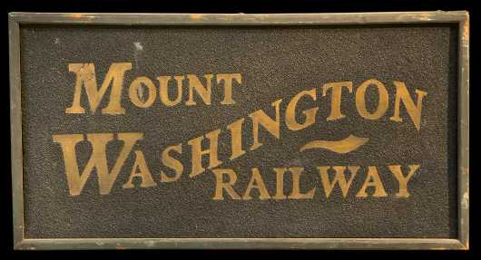 Reproduction Mount Washington Railway Sign