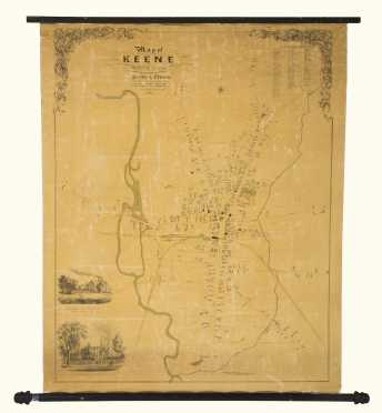 1853 Keene NH Map