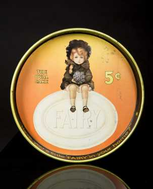 Tin Advertising Circular Tray