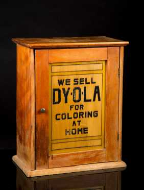 Double Sided and Door DY-O-LA DYE COMPANY Wooden Display Cabinet