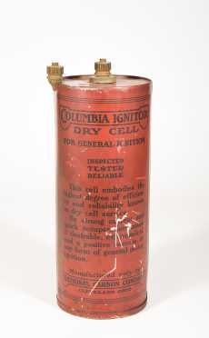 """Columbia Ignition Dry Cell"" Battery Display"