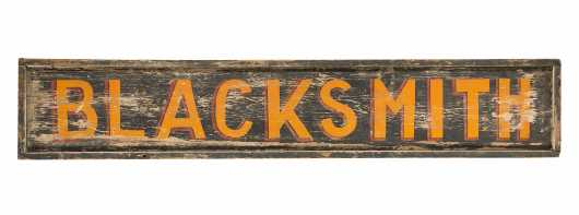 "Wooden Painted ""Blacksmith"" Trade Sign"