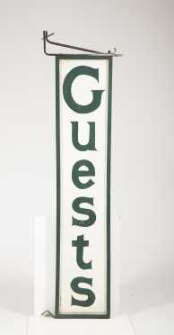 "Double Sided ""Guests"" Vertical Sign"