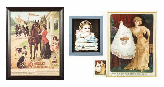 Three Lithograph Country Store Advertisements