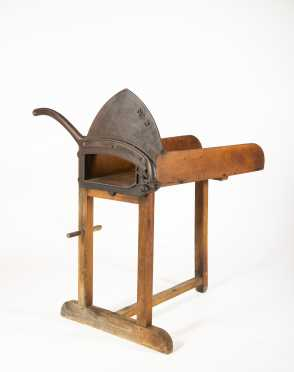 Wooden Broom Corn Cutter