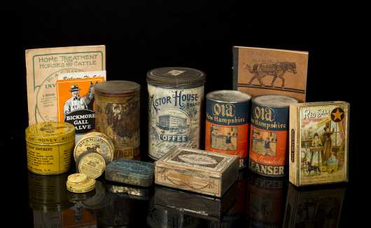 Lot of 15 Miscellaneous Small Country Store Cans etc.