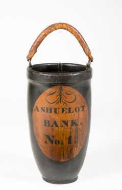 """Ashuelot Bank"" Leather Fire Bucket ""NO. 1"""