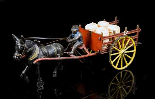 """Wilkins"" Cast Iron Horse and Cart"