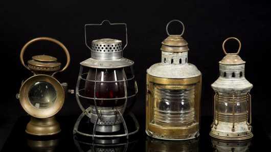 Lot of Four Lamp Lanterns