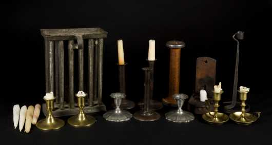 Antique and Reproduction Candlestick Lot