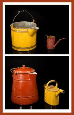 Pouring Painted Tin Can Lot